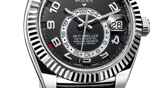 oyster perpetual sky dweller von rolex retrograde. Black Bedroom Furniture Sets. Home Design Ideas