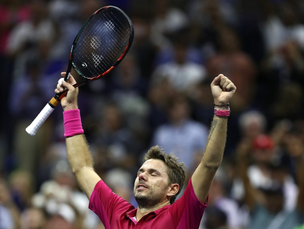 NEW YORK, NY - SEPTEMBER 11: Stan Wawrinka of Switzerland celebrates defeating Novak Djokovic of Serbia with a score of 6-7, 6-4, 7-5, 6-3 during their Men's Singles Final Match on Day Fourteen of the 2016 US Open at the USTA Billie Jean King National Tennis Center on September 11, 2016 in the Flushing neighborhood of the Queens borough of New York City. (Photo by Elsa/Getty Images)